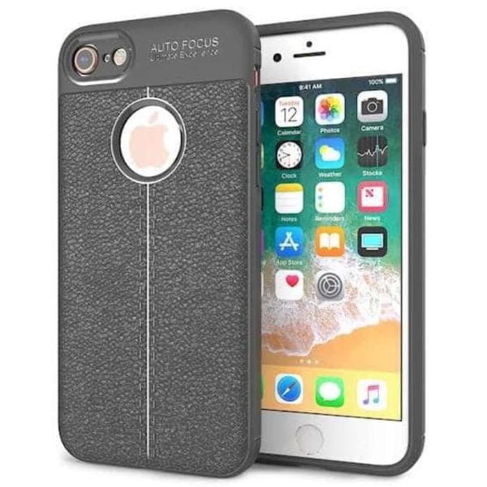 Big Sale!! Casi - Leather Silicone Auto Focus Iphone 7 Plus Iphone 8 Plus Case Back Cove - 1