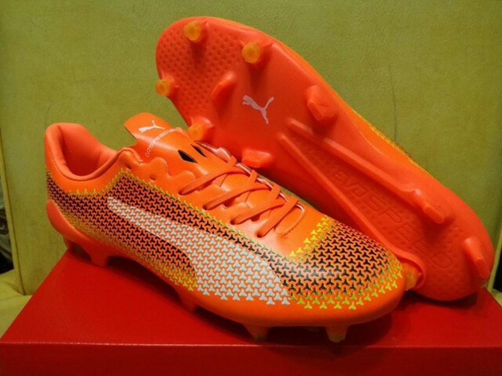 Sepatu Bola / Soccer Puma evoSPEED 17 SL Ceramic Orange - FG