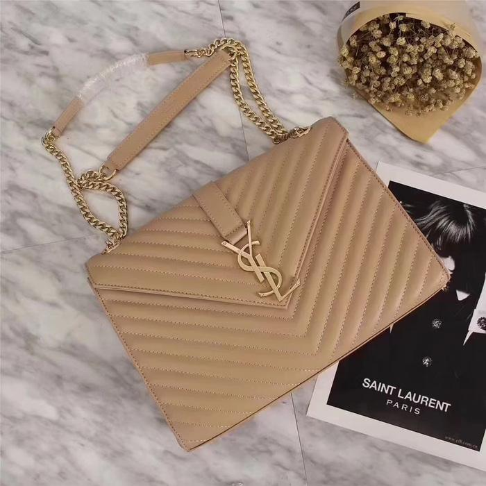 YSL Large Envelope Chain Bag Mirror Quality Tas Wanita Branded - rAvRhx