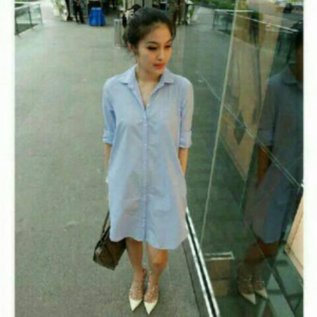 RX Fashion Hem Candra  Chandra - Bahan Denim Soft Quality Good Fit L Dress(Qualty Good) 1R