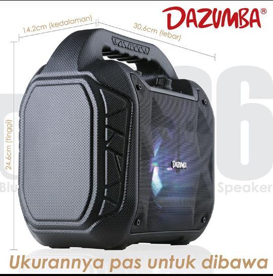 ... SPEAKER PORTABLE KARAOKE DAZUMBA DW 086 FREE MIC - 5