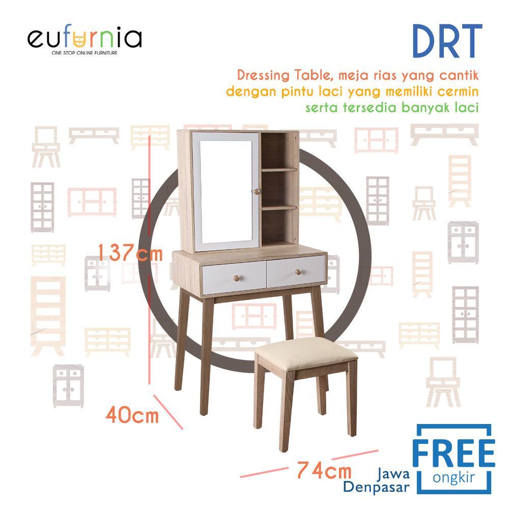 Eufurnia Olympic Curla Series Dressing Table - Meja Rias