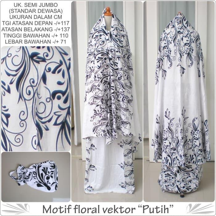 Mukena bali rayon dewasa motif floral vektor warna putih semi jumbo / PERLENGKAPAN SHOLAT / ALAT SHOLAT / TELEKUNG / MUKENA / MUKENA DEWASA TERMURAH / MUKENA DEWASA BERKUALITAS / BEST SELLER / MUKENA KEKINIAN / MUKENA MURAH