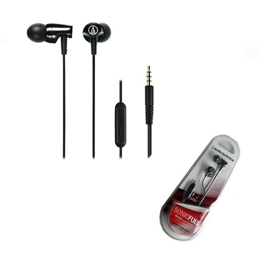Audio Technica ATH-CLR100is Sonicfuel Earphone Original - Hitam