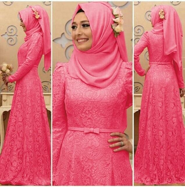 Hijab Seikha pink Busana Muslim Wanita Gamis brukat cantik