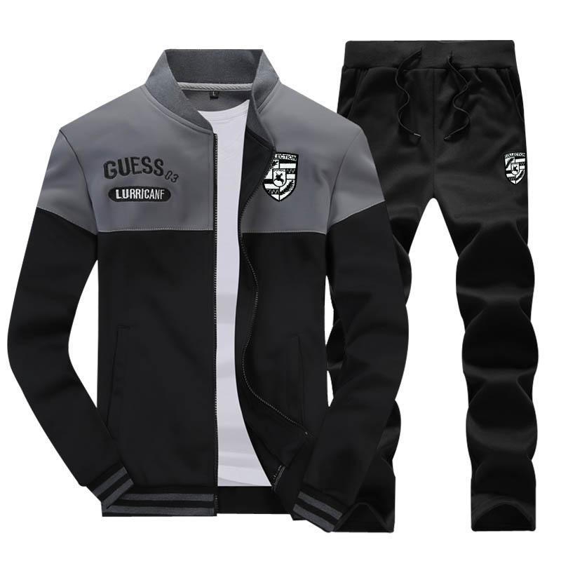 Sweater Men Spring And Autumn 2019 New Style Korean Style Trend plus Velvet  Sports Set man 0b292465e