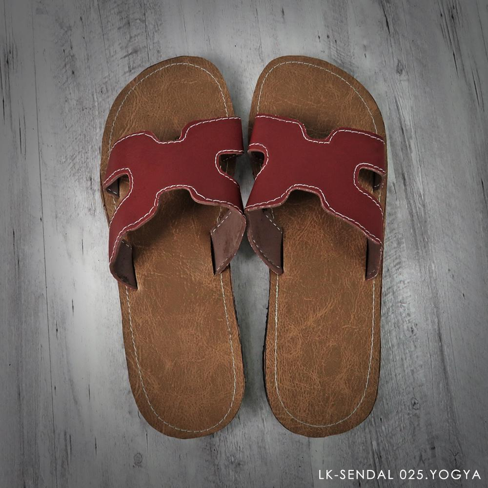 Sandal Jogja Murah - Slip on - Maroon - 68294 - RTA0703