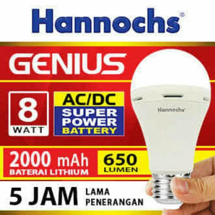 Lampu Led Emergency - Cas - Darurat - Lampu HANNOCH Genius 8W 5 JAM