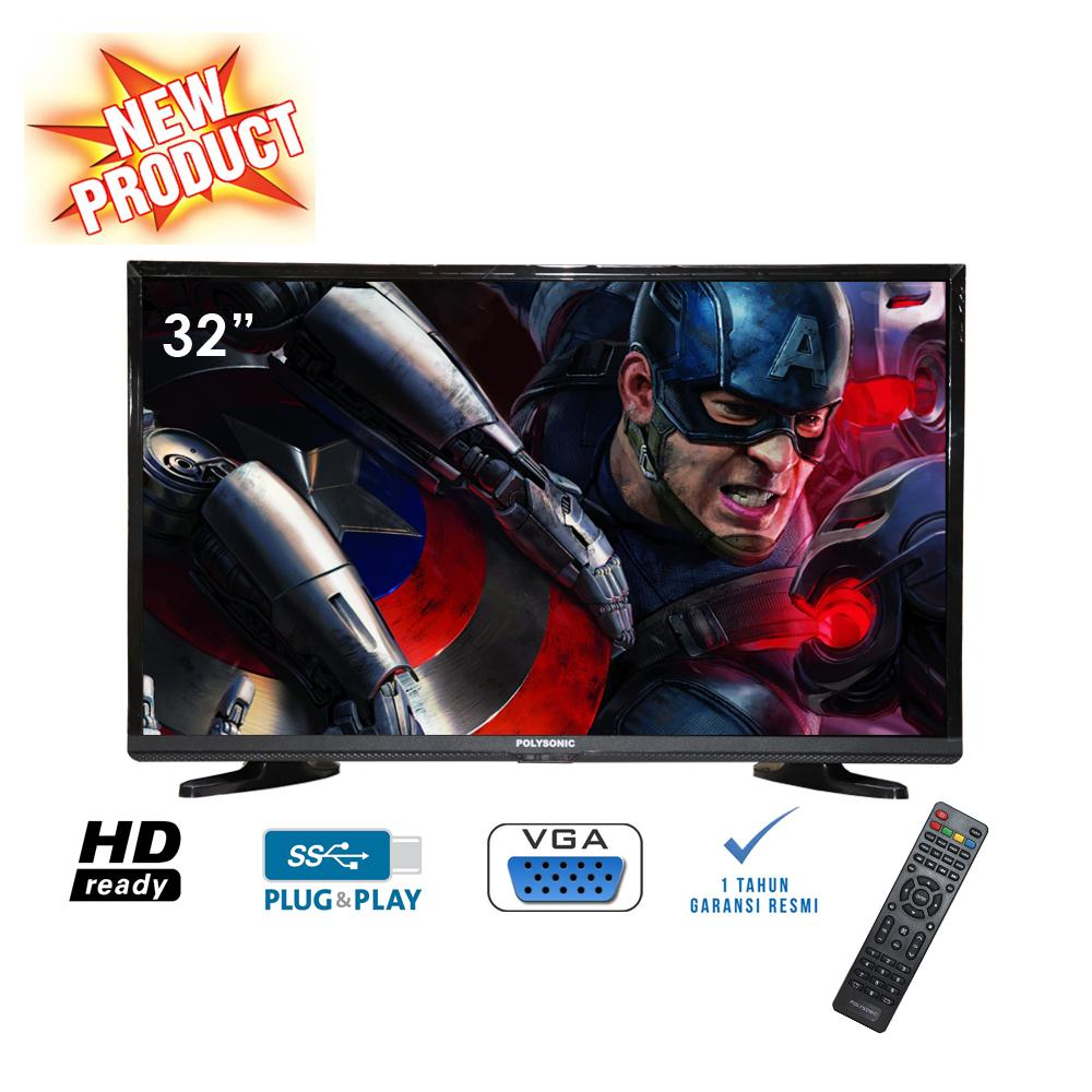 POLYSONIC 3200 LED TV - Hitam [32 Inch] HITs Promo..