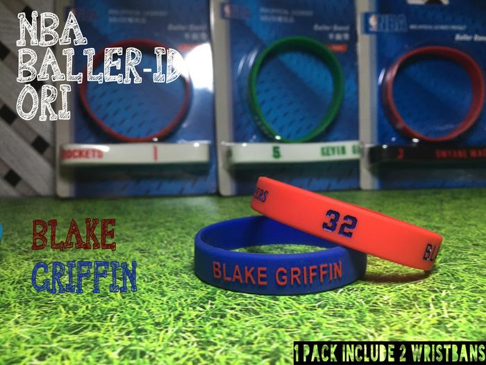 BLAKE GRIFFIN #3 NBA BALLER ID ORI BAND BANDS BASKETBALL WRISTBAND