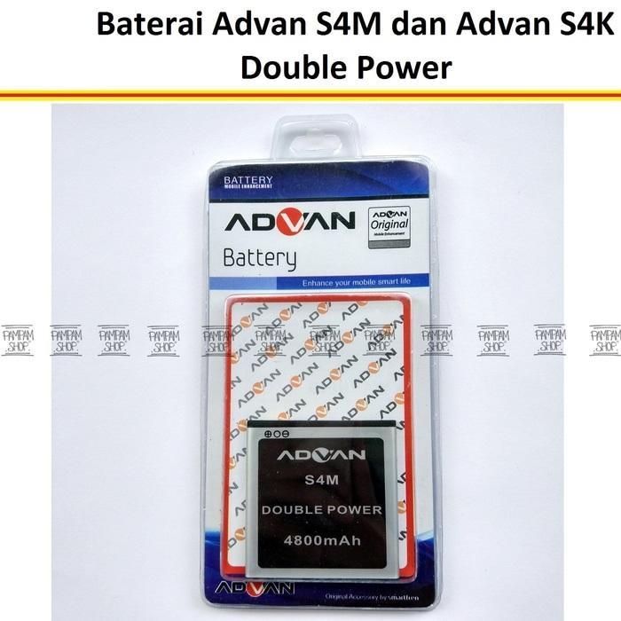 Baterai Handphone Advan S4K Original Double Power   Batre HP Advance