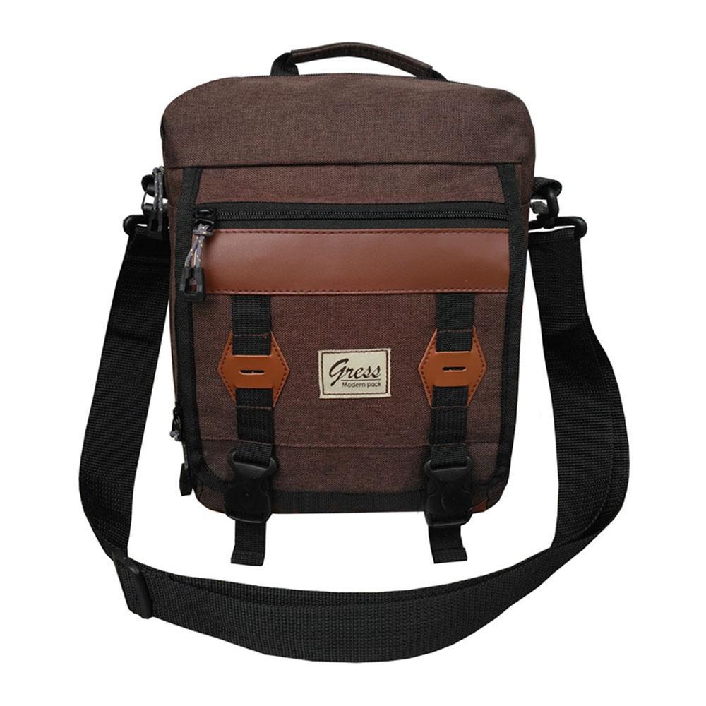 Tas Selempang Gress Sports - Shoulder Bag Nylon Dolby Halus AT2000 - Coffee - Tas Sandang Pria Tas Messenger Tas Slempang Crossbody Man Tas Fashion Pria
