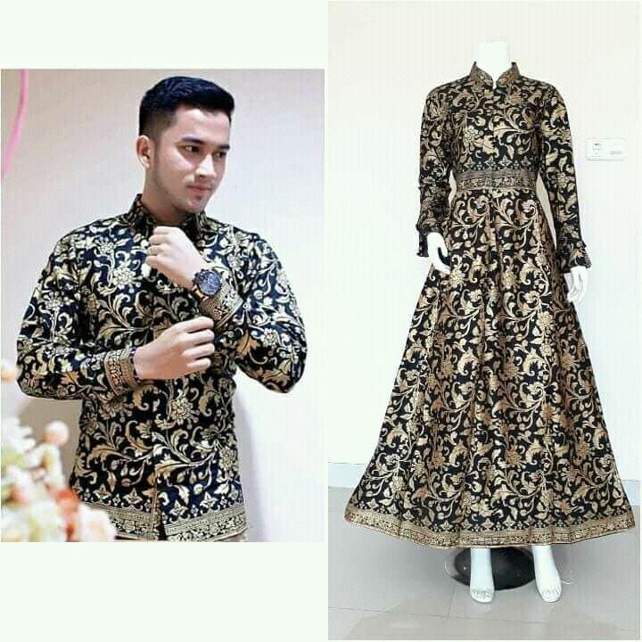 Sarimbit Gamis batik prada gold exclusive