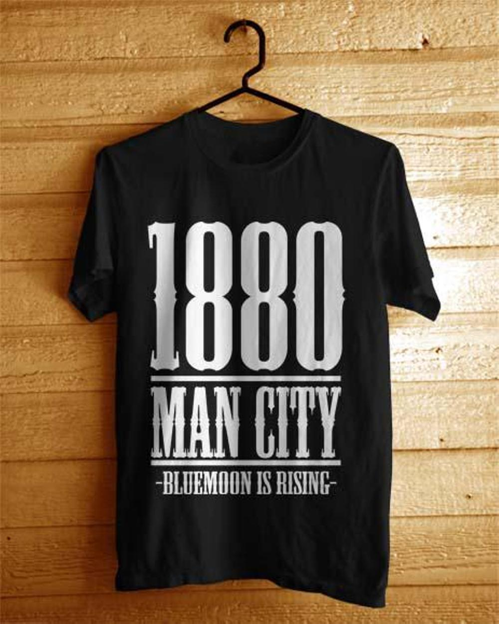 Kaos Man City Years Est Big Hitam (Baju Distro Bola Online The Citizens)