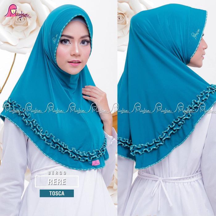 MiuLan Bergo Hijab Ji lbab Kerudung Polos Rempel Cantik Adem RERE