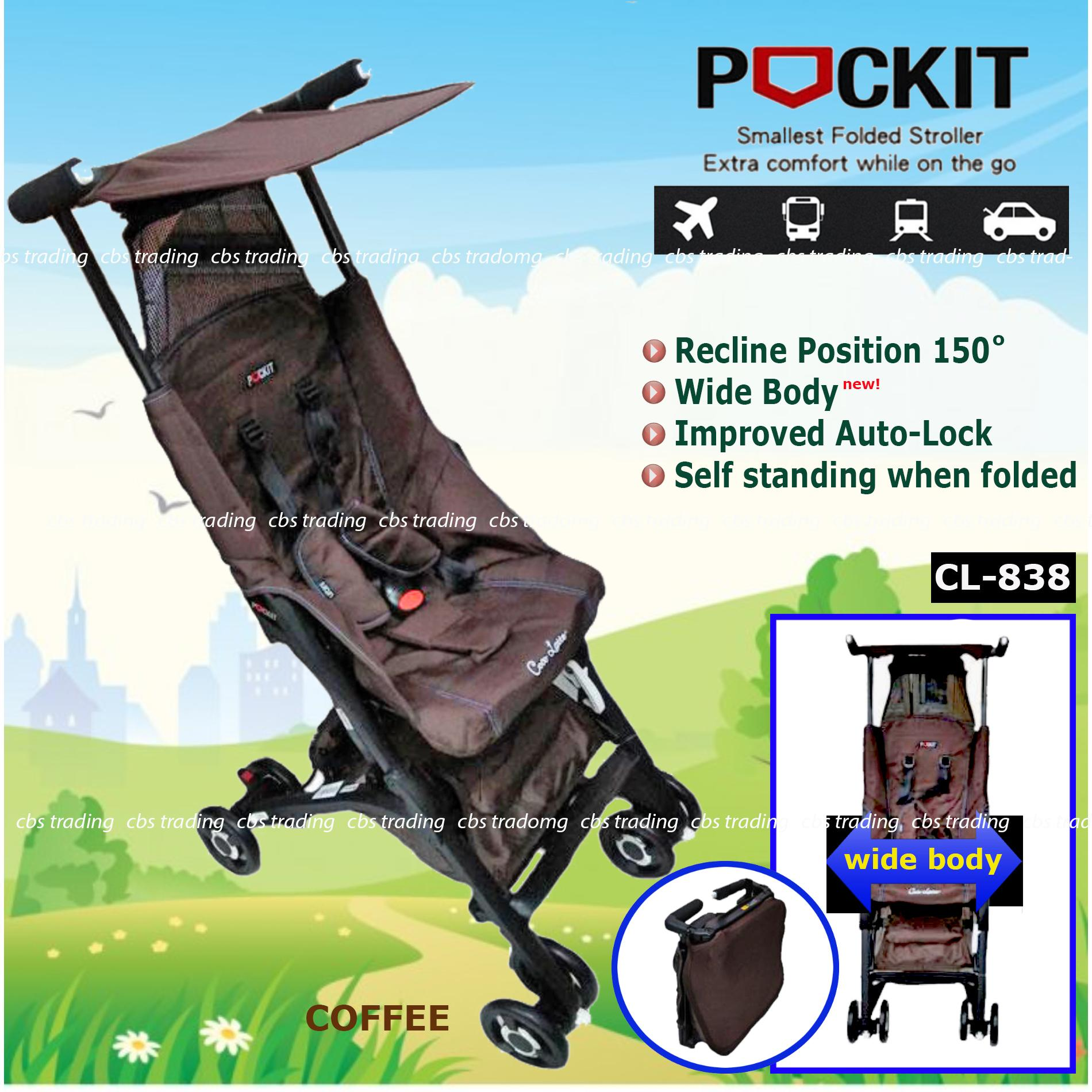 Cocolatte  Stroller CL-838 New Reclining Pockit - Kereta Dorong Bayi - Coffee