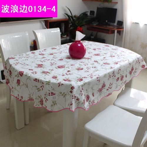 Indah Taplak Meja PVC Anti Minyak Taplak Meja Makan Tahan Air Oval