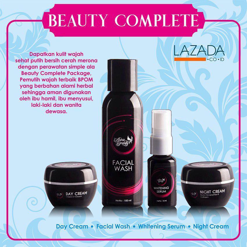 Aura Beauty Paket Beauty Complete Cream Pemutih Wajah Terbaik dan Aman