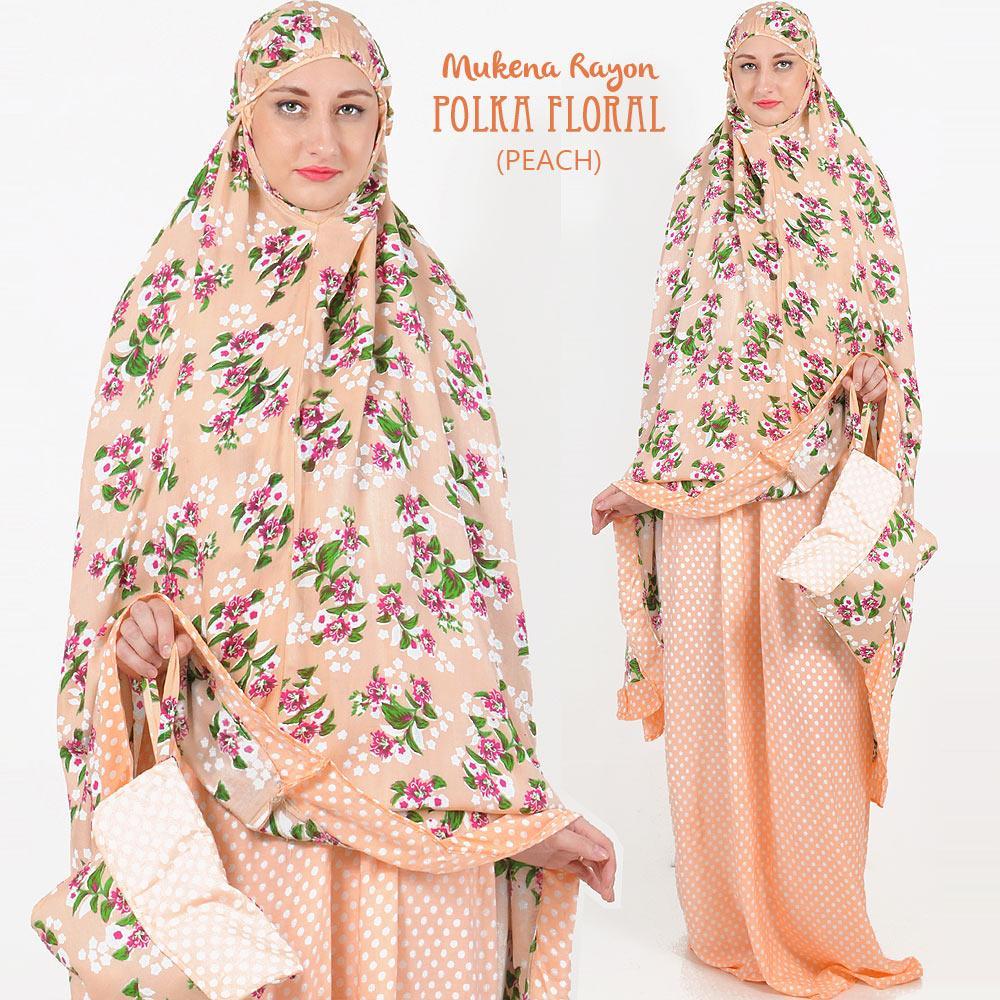 Cek Harga Baru Jo Nic Set Mukena Katun Rayon Polka Floral Allsize Fit Up To Xl