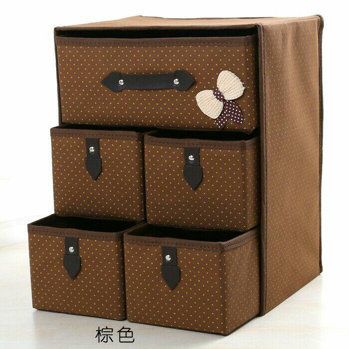Sale - Korean Drawer Storage 5  Gird - Underware Organizer - Rak Laci 5 Sekat