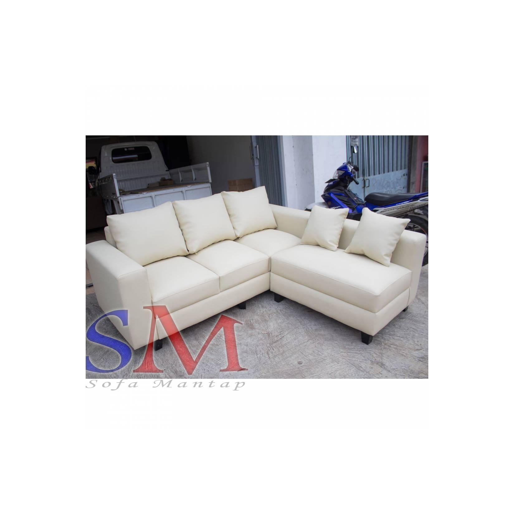 Sofa kursi Ruang Tamu L Minimalis murah, sofa sudut kantor + MEJA TAMU