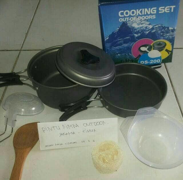 Cooking Set Ds 200 Original, Peralatan Masak Camping Outdoor kemping - ready