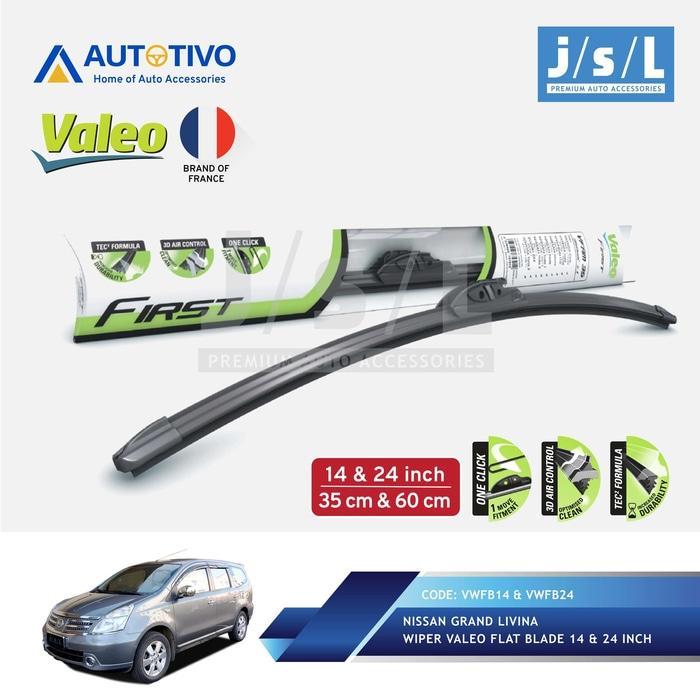 Nissan Livina Wiper Mobil Valeo Flat Blade Quality (2 Pcs Kiri Kanan)