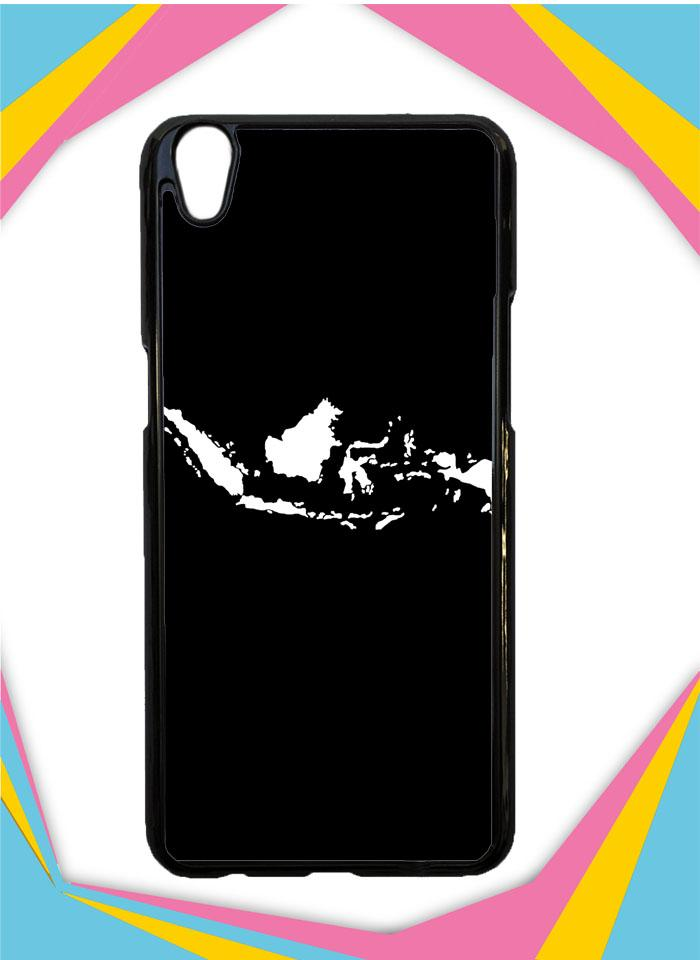Casing Hardcase Custom OPPO NEO 9 Motif Peta Indonesia Jokowi Selfie Case Cover