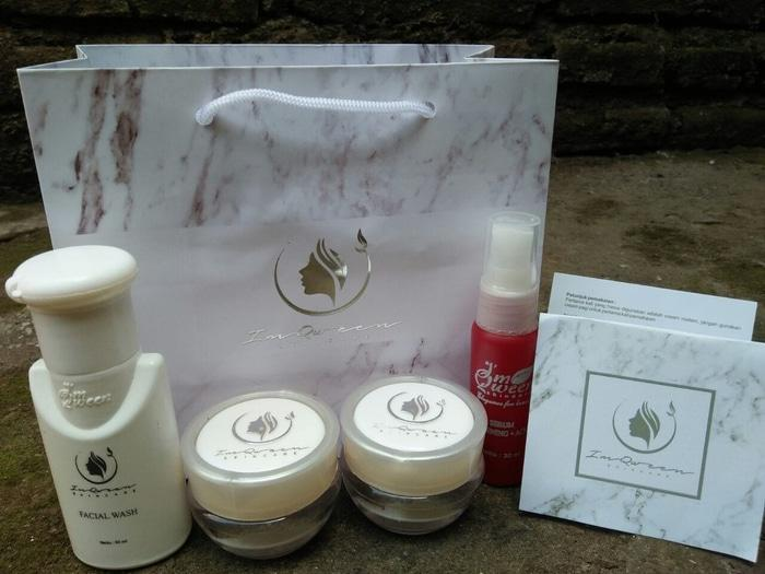 Cream Im Qween Original Paket Acne Sabun Batang ( New pack )