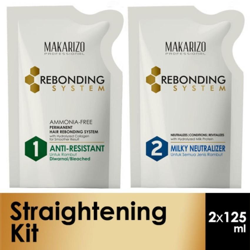 Makarizo Professional Rebonding System (Step 1 + Step 2) Anti Resistant 125 ml x