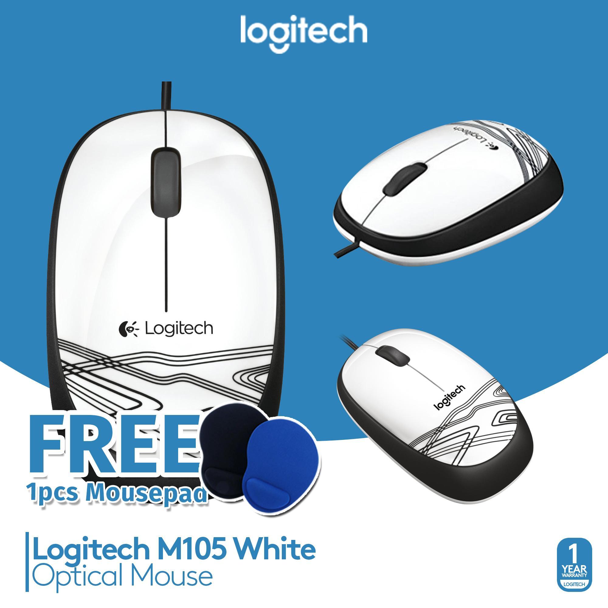 Cek Harga Baru Logitech Original Mouse M105 Putih Terkini Situs Mousepad
