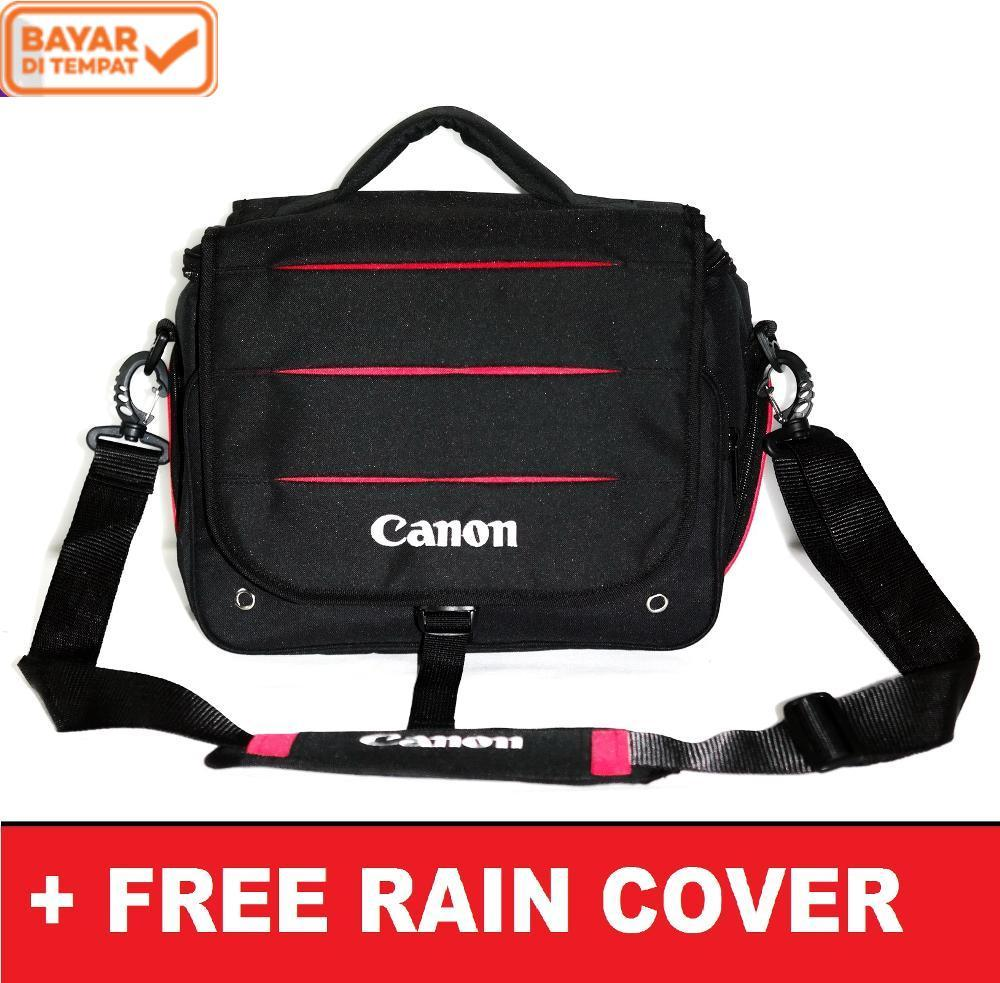 Canon dslr Tas Kamera Mirrorless Selempang Free Raincover Kode D T A