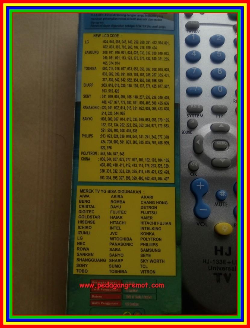 Fitur Remot Remote Tv Universal Tabung Lcd Led Rm133e Plus Sharp Senter 3