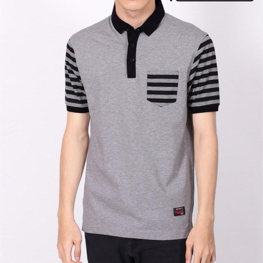 Baju Kaos Polo Lengan pendek Abu-Abu Cressida Polo Shirt CYWR.7R002-06 Original Kaos Pria Slimfit