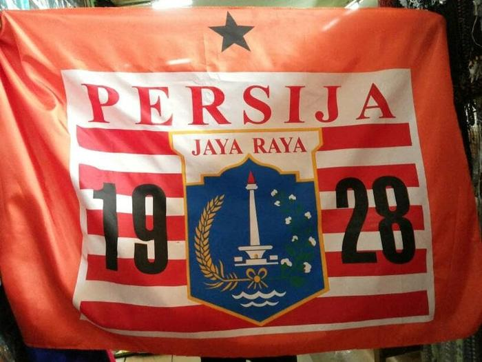 Bendera Sepak Bola Jakarta Persija Ukuran Besar