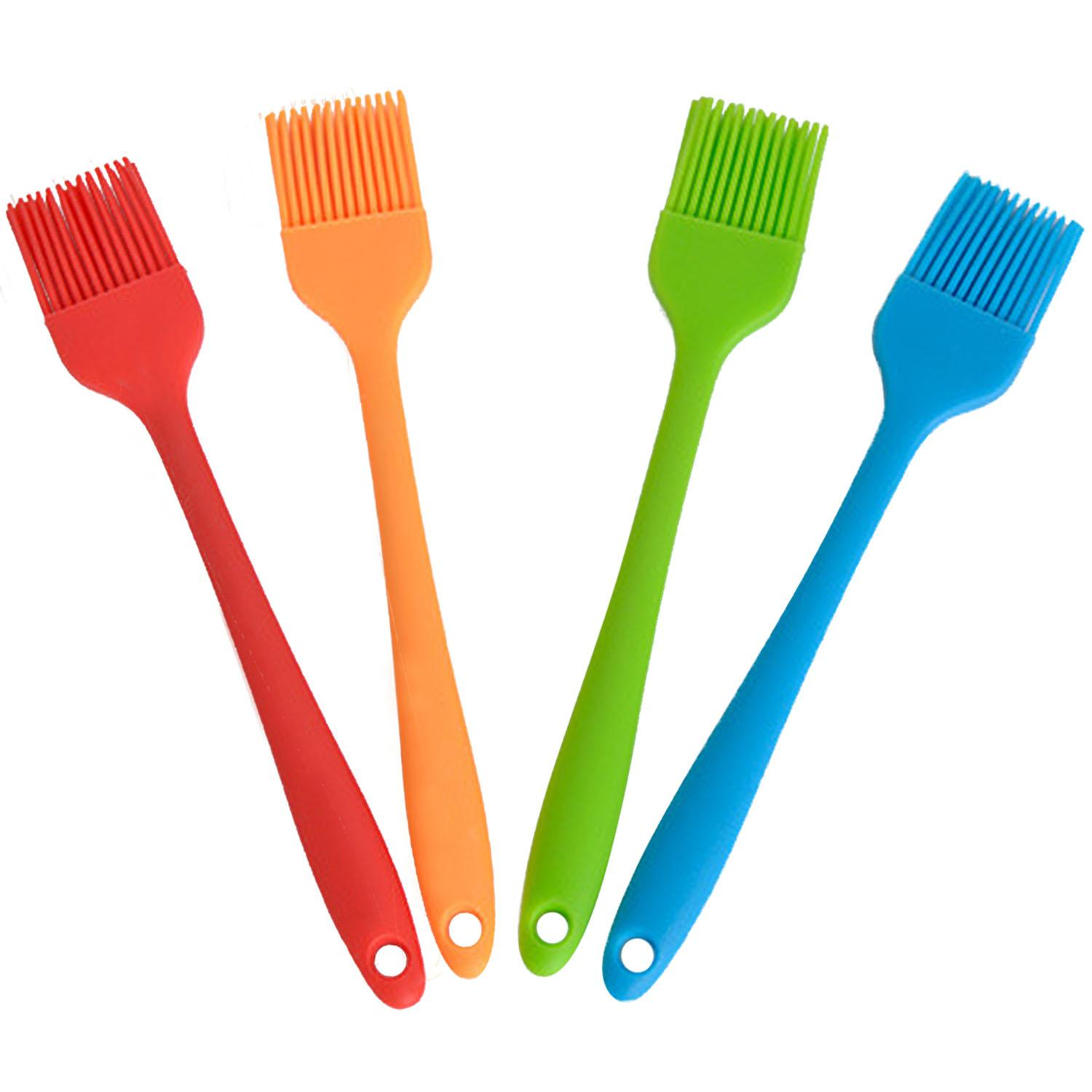 4Pcs Silicone Baking Cake Pastry Bread Bakeware Oil Roast Cream BBQ Brush Basting Tools Kitchen Accessories Gadgets - intl