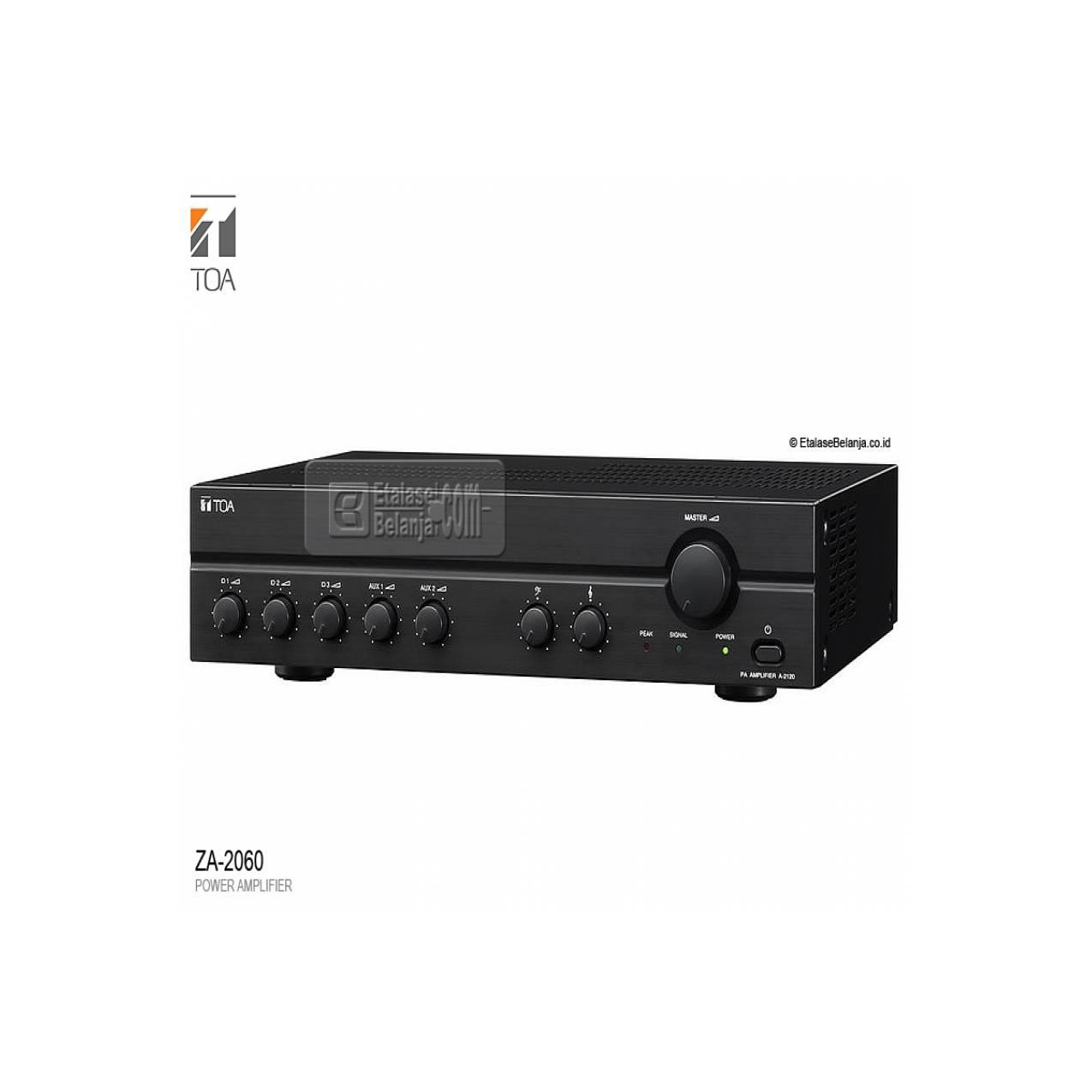 TOA ZA-2060 - PA POWER MIXER AMPLIFIER 60 WATT