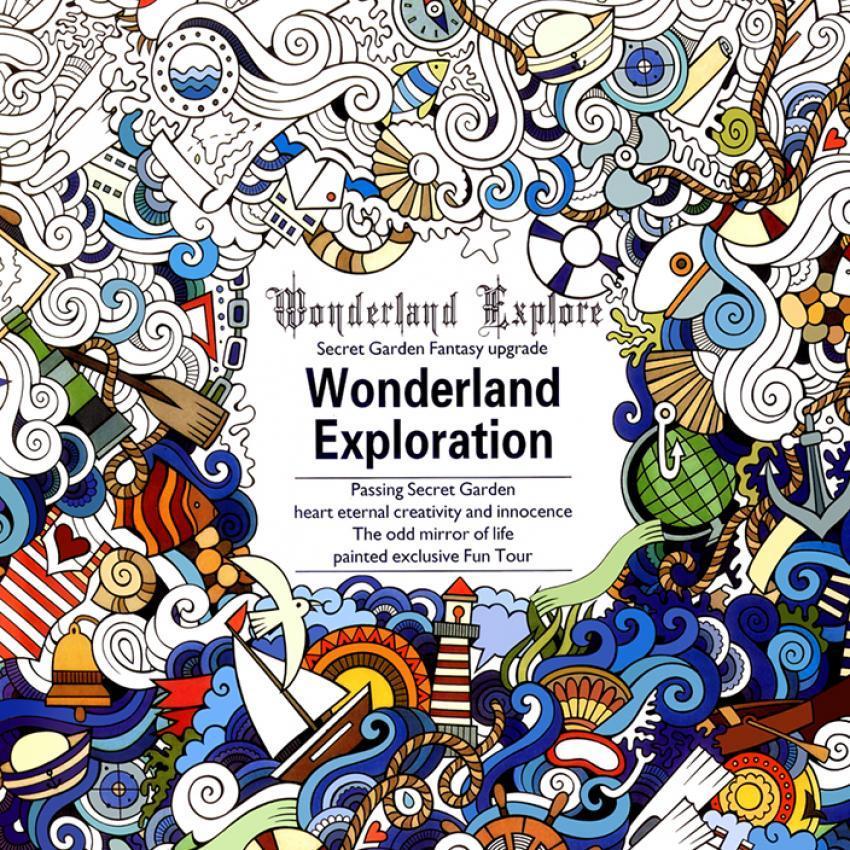 1PCS Wonderland Exploration 2016 New Secret Garden An Inky TreasureHunt And Coloring Book For Children