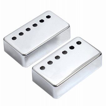 1set of 2pcs Humbucker Neck & Bridge Guitar Pickup Covers forGibson Electri Guitar Chrome - Intl