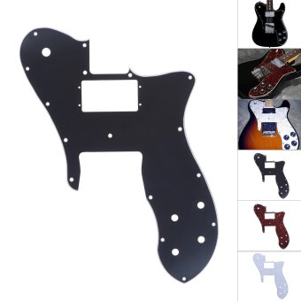 3Ply PVC Electric Guitar Pickguard Pick Guard Scratch Plate for Fender '72 Telecaster Custom Replacement Part Black - intl