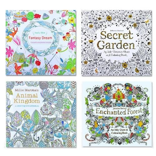 4 Pcs Secret Garden Coloring Graffiti Book For Children Adult Relieve Stress Kill