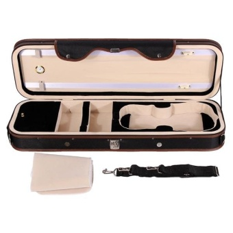 4/4 Violion Box Violin Case with Humidity table Straps locks Waterproof - intl