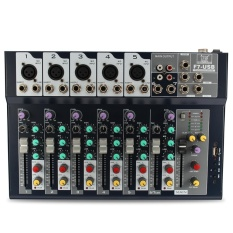 7 Channel Profesional Stage Live Studio Audio Mixer USB Mixing Console DJ KTV-Intl