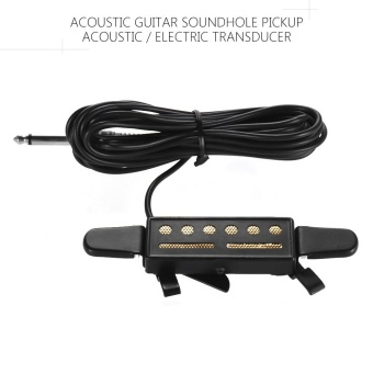 Acoustic Guitar Sound Soundhole Pickup Acoustic / ElectricTransducer 1/4in Female Plug 4m Cable -