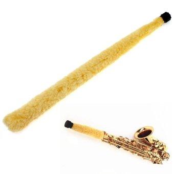 Alto saksofon Cleaner kuning lembut serat sikat Pad Saver tahan lama