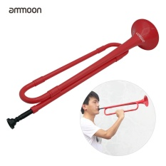 ammoon B Flat Bugle Cavalry Trumpet Environmentally Friendly Plastic with Mouthpiece for Band School Student - intl