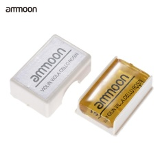 ammoon Transparent Orange Natural Rosin Cuboid for Violin Viola Cello Handmade Light and Low Dust - intl