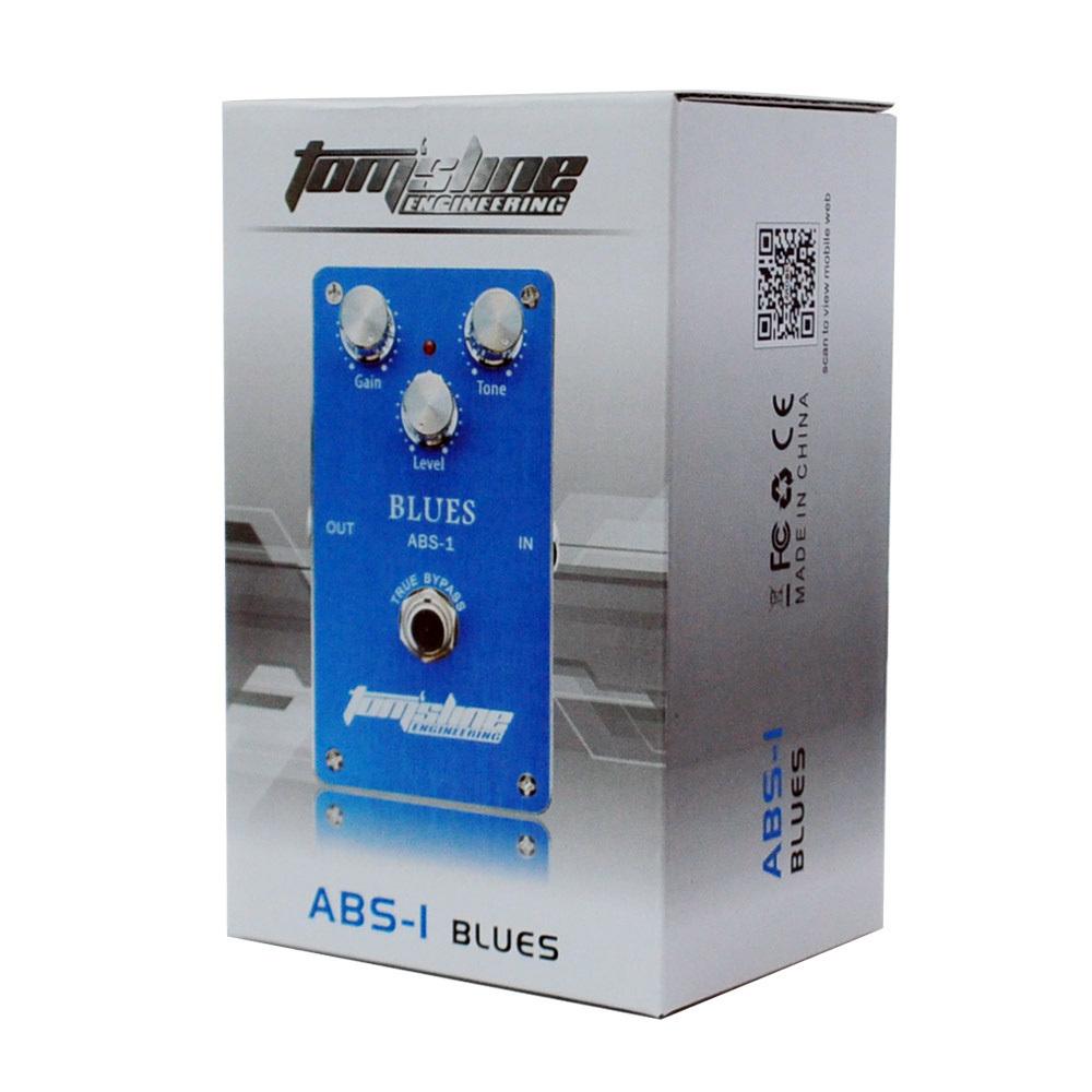 ... Aroma ABS -1 Distorsi Efek Pedal Gitar Elektrik Blues Paduan Aluminium Perumahan Bypass Sejati ...