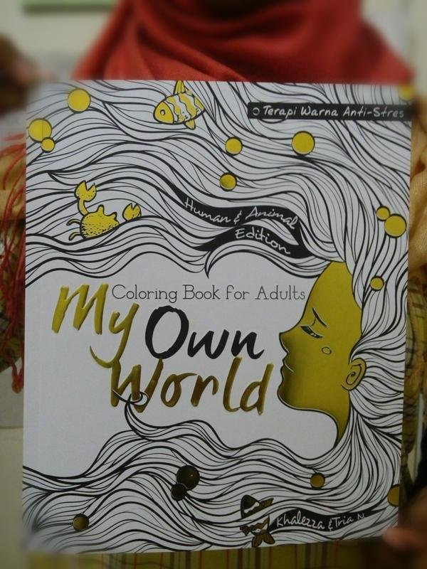 Book My Own World Coloring For Adults Terapi Warna Anti Stres
