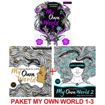 Book Paket My Own World: Coloring Book for Adults (Travel Size) 1-3